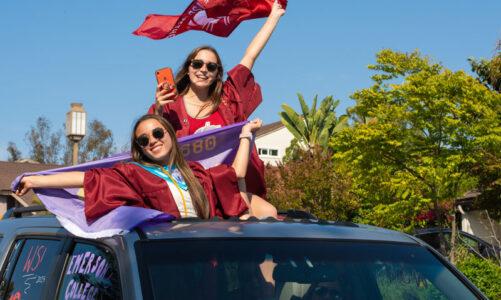 Graduation car parade